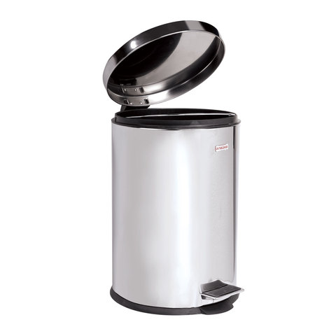 """Ведро-контейнер для мусора (урна) с педалью ЛАЙМА """"Classic"""", 5 л, зеркальное, нержавеющая сталь, со съемным внутренним ведром"""