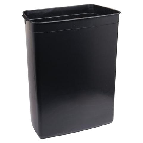 """Ведро-контейнер для мусора (урна) с педалью ЛАЙМА """"Nova"""", 50 л, матовое, плавно закрывается, нержавеющая сталь"""