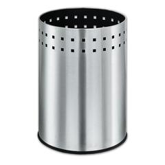 """Корзина металлическая для мусора ЛАЙМА """"Bionic"""", 12 л, матовая, перфорированная, несгораемая"""
