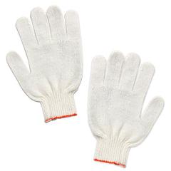Перчатки хлопчатобумажные ЛАЙМА СТАНДАРТ, комплект 5 пар, без ПВХ, 7,5 класс, 36-38 г, 166 текс, белые