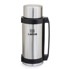 Термос ЛАЙМА классический с узким горлом, 2,6 л, нержавеющая сталь, пластиковая ручка