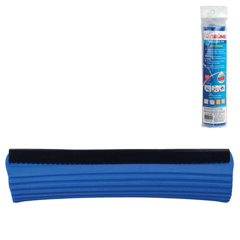 Насадка МОП для швабры самоотжимной роликовой 601466, PVA, 26 см, синяя, ЛАЙМА