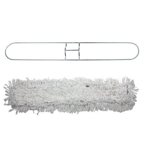 Держатель-рамка 90 см для плоских МОПов цельный, МОП на завязках, хлопок, черенок 601513, ЛАЙМА PROFESSIONAL