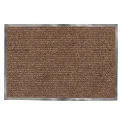 Коврик входной ворсовый влаго-грязезащитный ЛАЙМА, 120х150 см, ребристый, коричневый