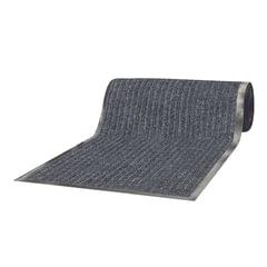 Коврик-дорожка ворсовый влаго-грязезащитный ЛАЙМА, 90х1500 см, ребристый, толщина 7 мм, серый
