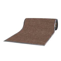 Коврик-дорожка ворсовый влаго-грязезащитный ЛАЙМА, 90х1500 см, ребристый, толщина 7 мм, коричневый