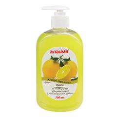 """Мыло-крем жидкое 500 мл, ЛАЙМА """"Лимон"""", с антибактериальным эффектом, дозатор"""