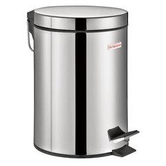 """Ведро-контейнер для мусора (урна) с педалью ЛАЙМА """"Classic"""", 3 л, зеркальное, нержавеющая сталь"""
