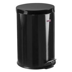 """Ведро-контейнер для мусора (урна) с педалью ЛАЙМА """"Classic"""", 20 л, черное, глянцевое, металл"""