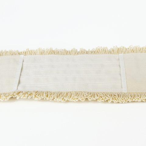 Насадка МОП плоская 80 см для швабры-рамки, К (карманы), нашивной хлопок, ЛАЙМА EXPERT