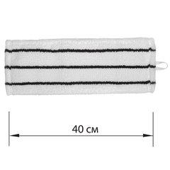 Насадка МОП плоская для швабры/держателя 40 см, У/К (уши/карманы), микрофибра/скраб, ЛАЙМА EXPERT