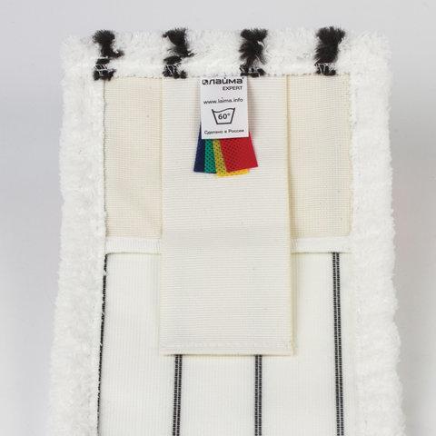 Насадка МОП плоская для швабры/держателя 50 см, У/К (уши/карманы), микрофибра/скраб, ЛАЙМА EXPERT