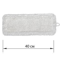 Насадка МОП плоская для швабры/держателя 40 см, У/К (уши/карманы), петлевая микрофибра, ЛАЙМА EXPERT