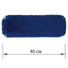 Насадка МОП плоская 40 см для швабры-рамки, К (карманы), сухая уборка, акрил, ЛАЙМА EXPERT