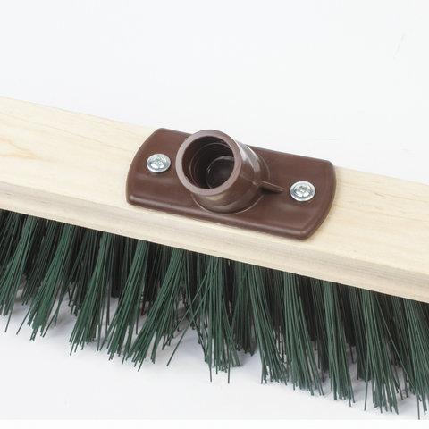 Щетка для уборки техническая, ширина 60см, жест щетина 8см, дерево, еврорезьба, ЛАЙМА EXPERT